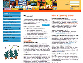 Association management software website examples forest park elementary pta parent teacher association view screenshot visit website pronofoot35fo Images