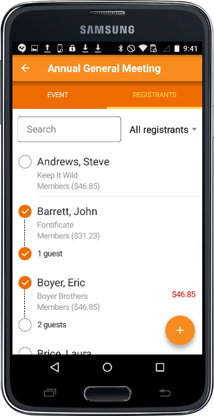 Event management, registration and payments from your mobile device