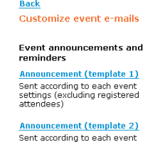 Automatic Announcements and Reminders