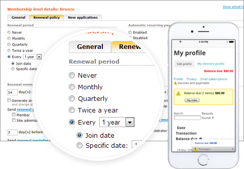 Automate your membership renewals