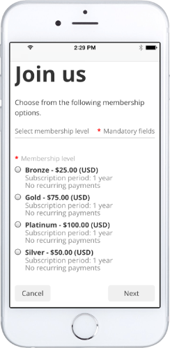 Mobile themes for your membership website