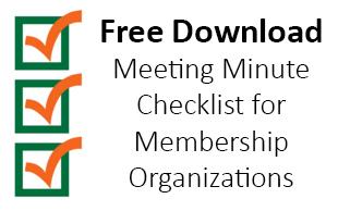 Meeting Minutes Checklist