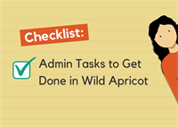 Admins tasks to get done checklist