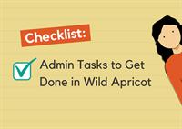 Admins tasks to get done checklist