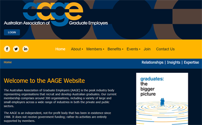 AAGE Membership Website Example