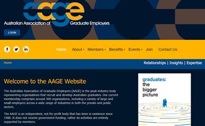 AAGE Membership Website Example