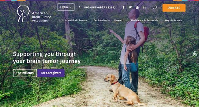 abta homepage nonprofit website