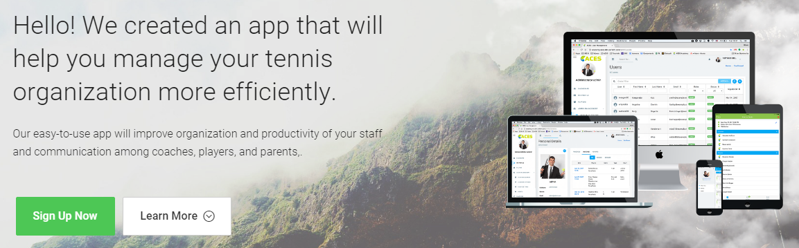 ACES tennis software