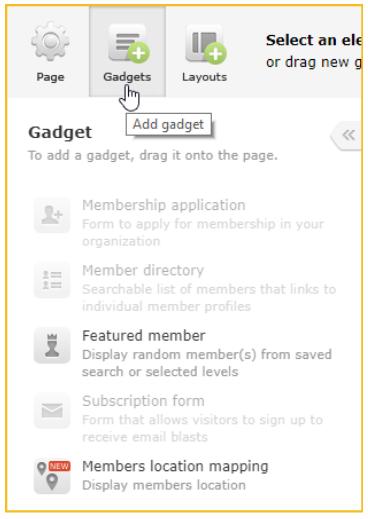 Add gadget screenshot