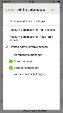 Admin Access