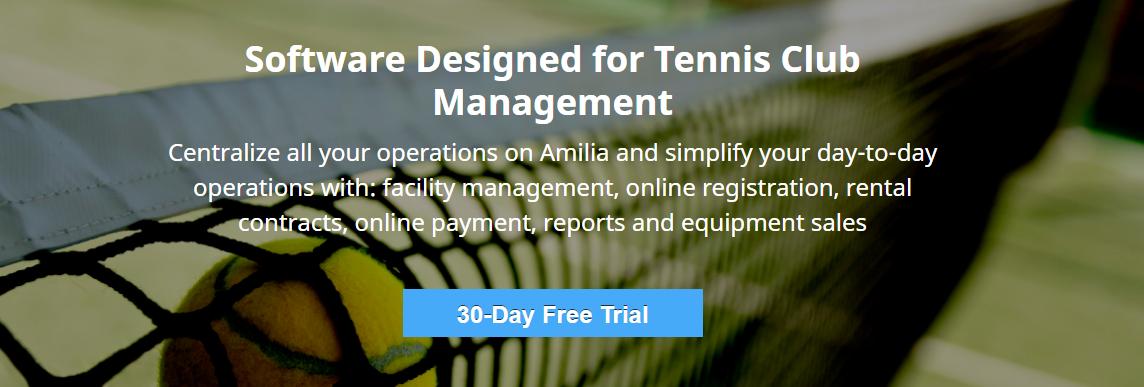 Amilia Tennis Club Software