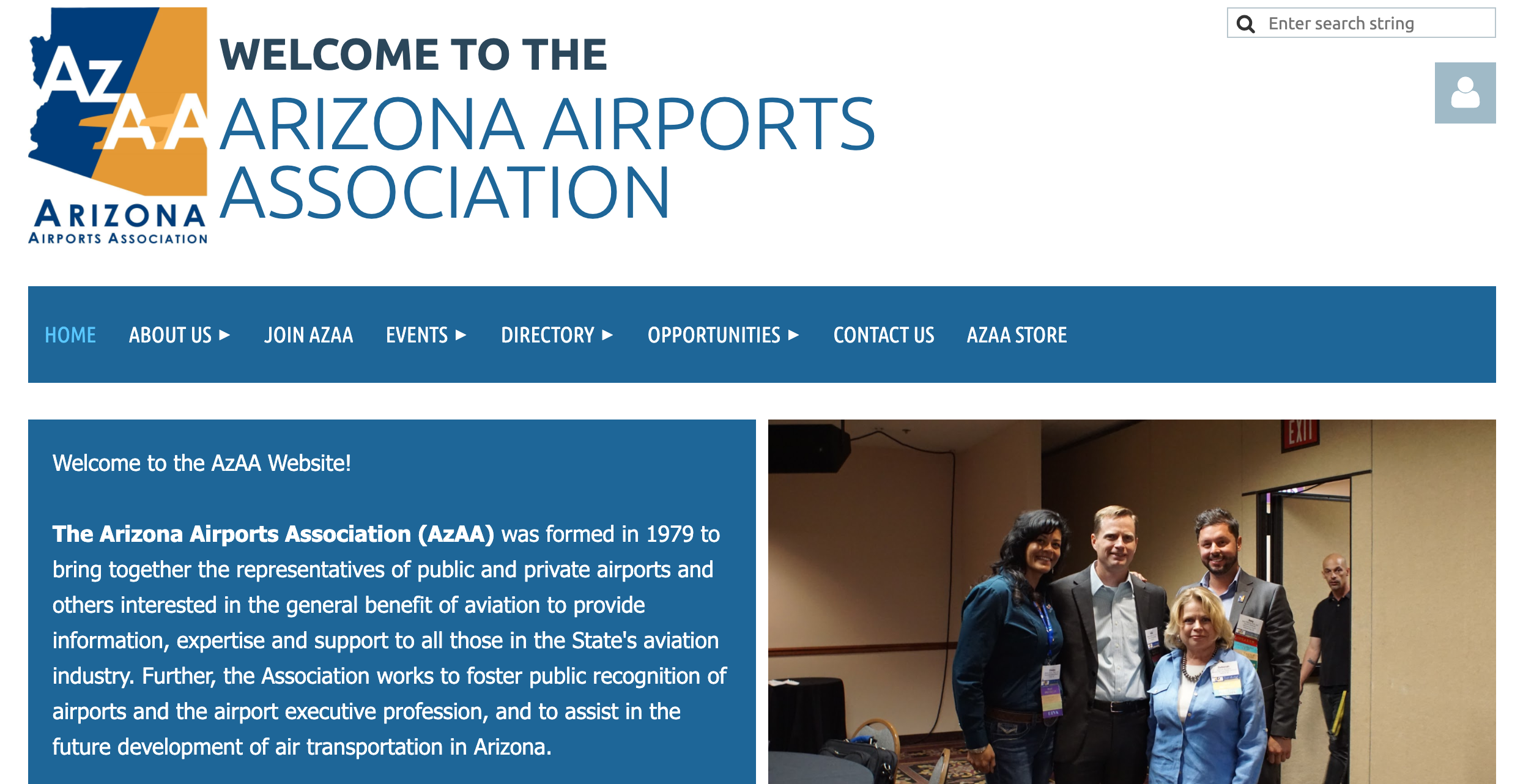 Arizona Airports Association website
