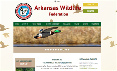 Arkansas wildlife website example