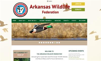 Arkansas wildlife website example