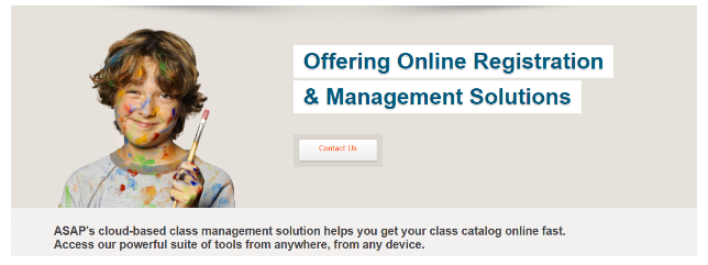 ASAP Online registration and management software