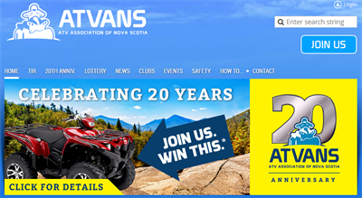 ATVANS Membership Website Examples