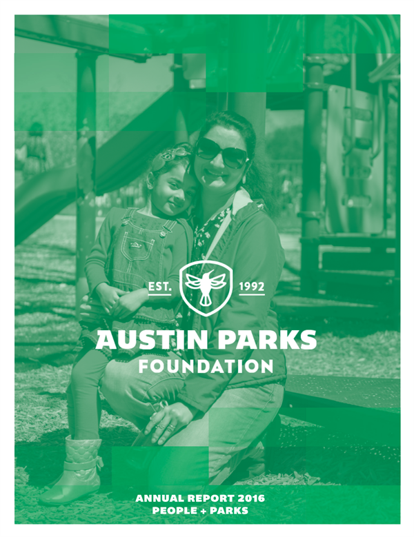 austin parks foundation annual report cover