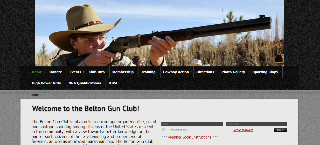 Belton Gun Club Software