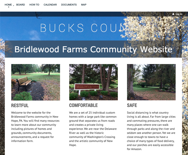 Bridlewood Farms Community website