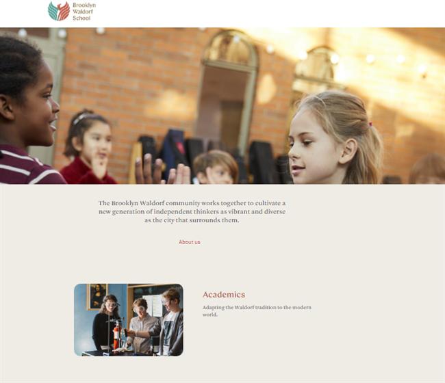 Brooklyn Waldorf School best nonprofit website
