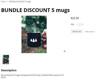 Bundle discount mugs online store image 2