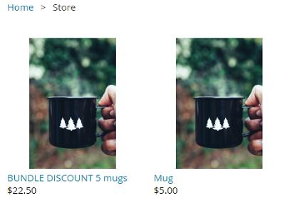 Bundle discount mugs online store