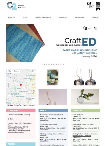 c2 centre for craft best nonprofit website