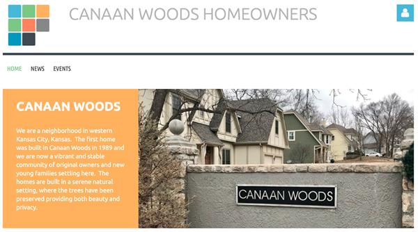 Canaan Woods Homeowners Association website