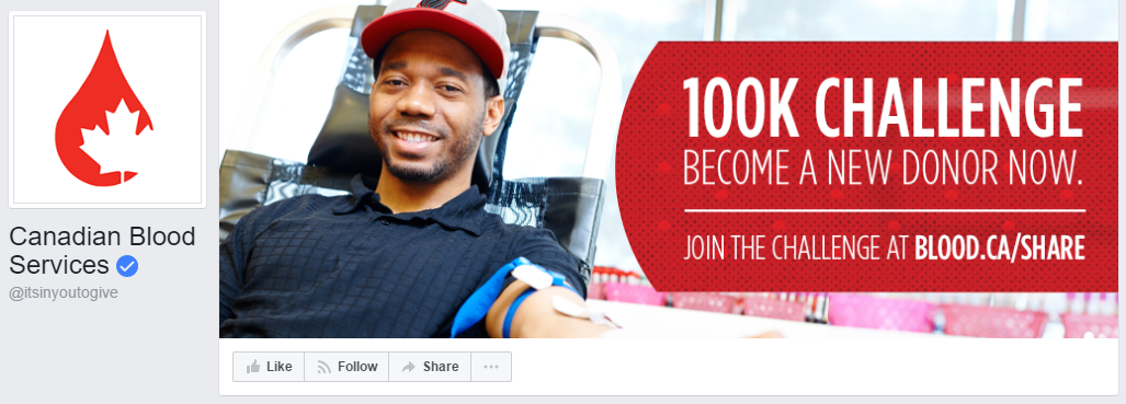 canada blood nonprofit facebook