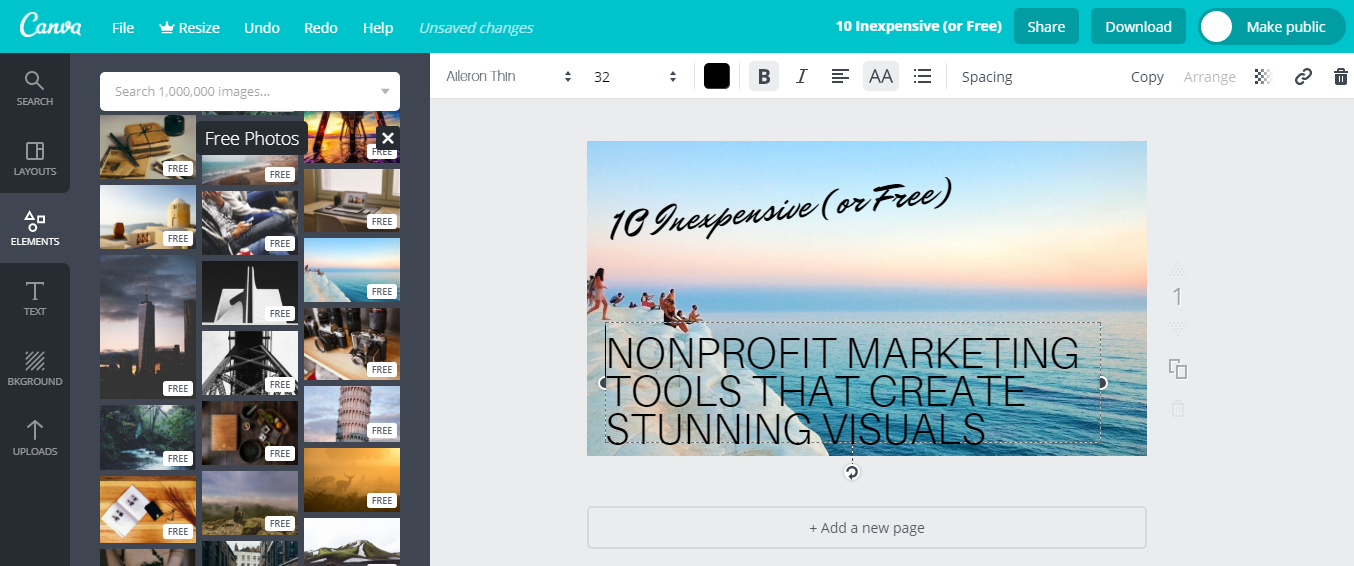 Canva Nonprofit Marketing Tools
