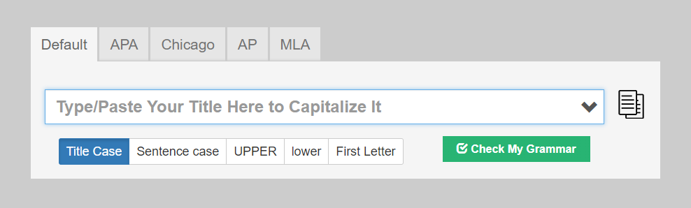 Capitalize My Title Productivity Tools