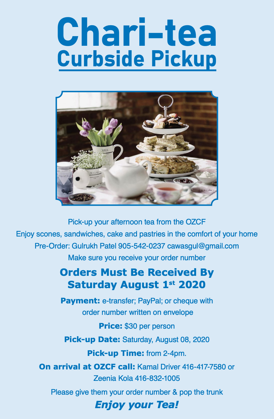 chari-tea fundraiser from the zoroastrian foundation