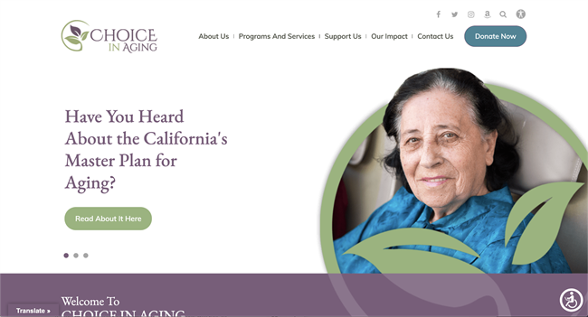 choice in aging how to create a nonprofit website