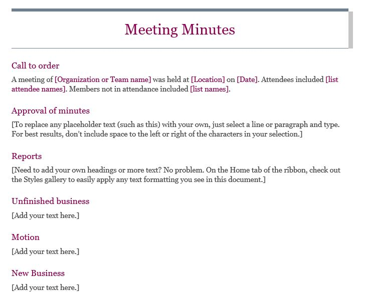 13 meeting minutes templates to help you ace your nonprofit board meeting