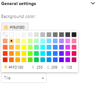 Color RGB settings