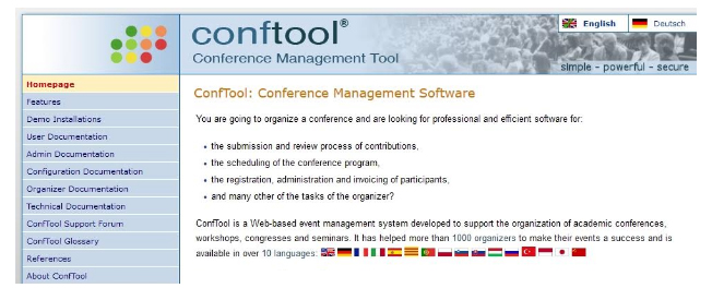 Conftool conference management software