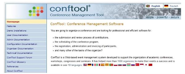 Conftool event management software