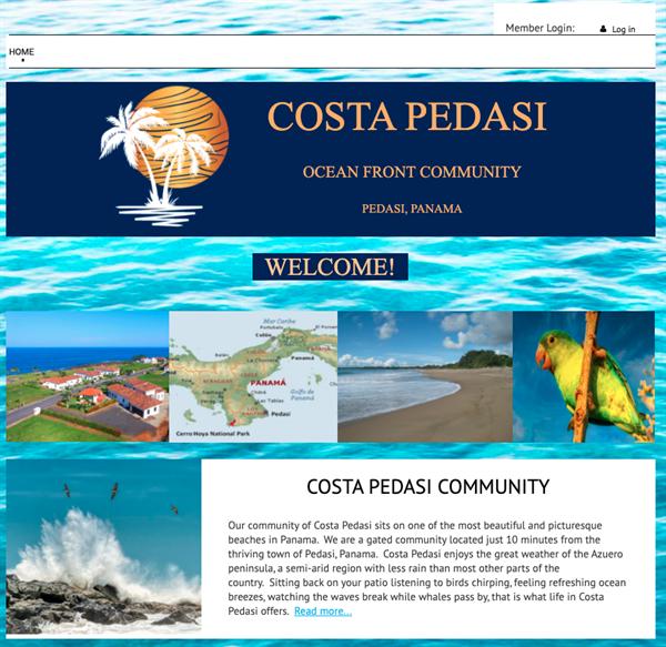 Costa Pedasi homeowners association website