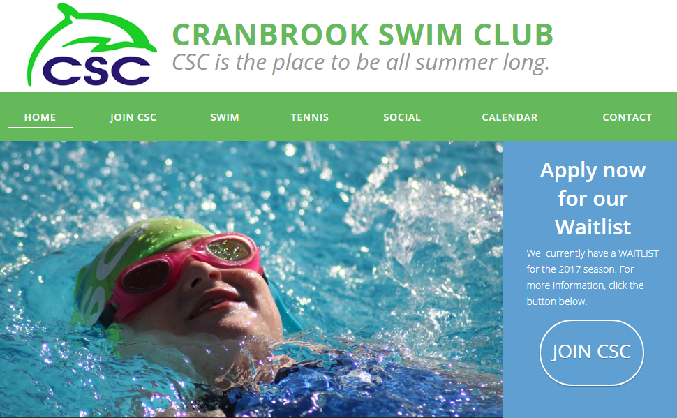 Cranbrook Swimming Club Software