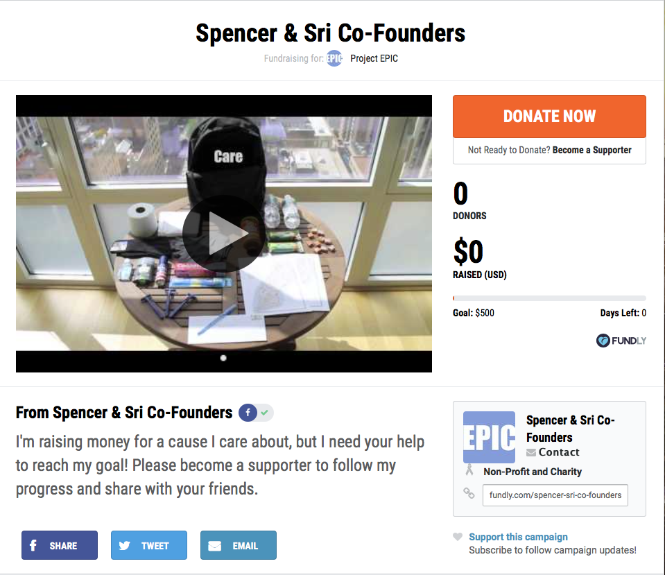 crowdfunding for nonprofits project epic
