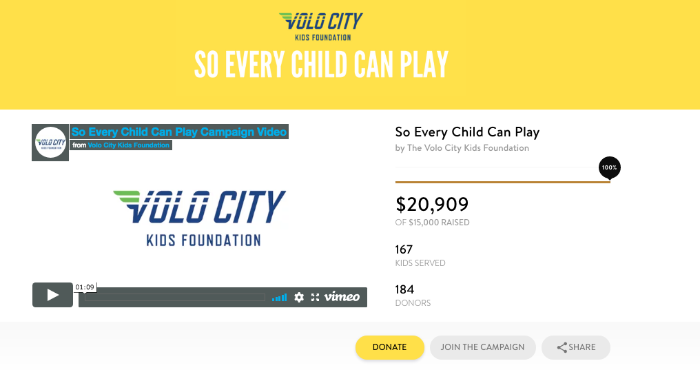 crowdfunding for nonprofits volo city