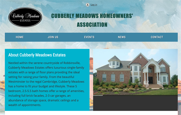 Cubberly Meadows Homeowners Association website