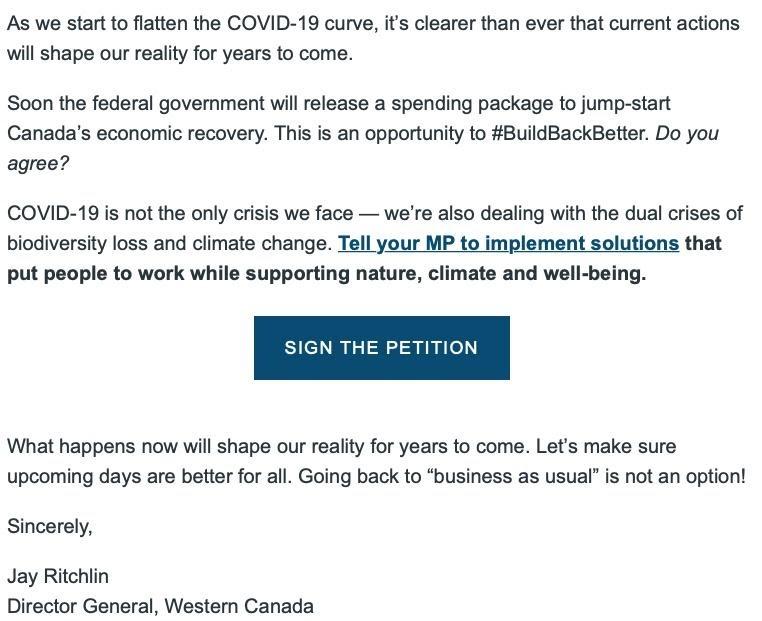 David Suzuki Foundation Email