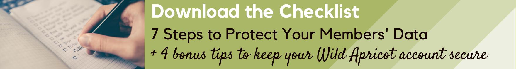 Download website security checklist