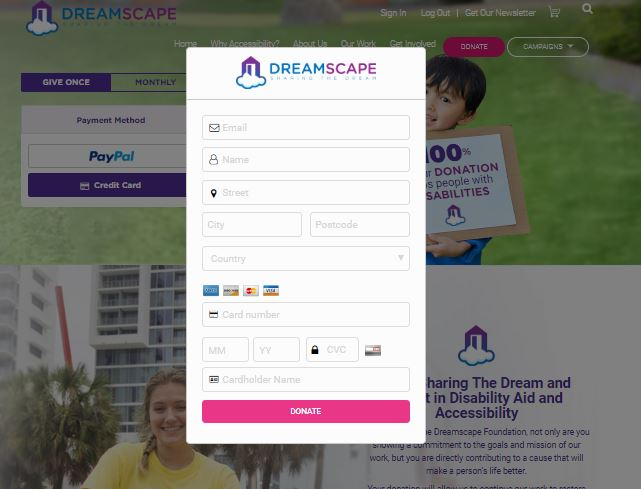 dreamscape how to create a nonprofit website