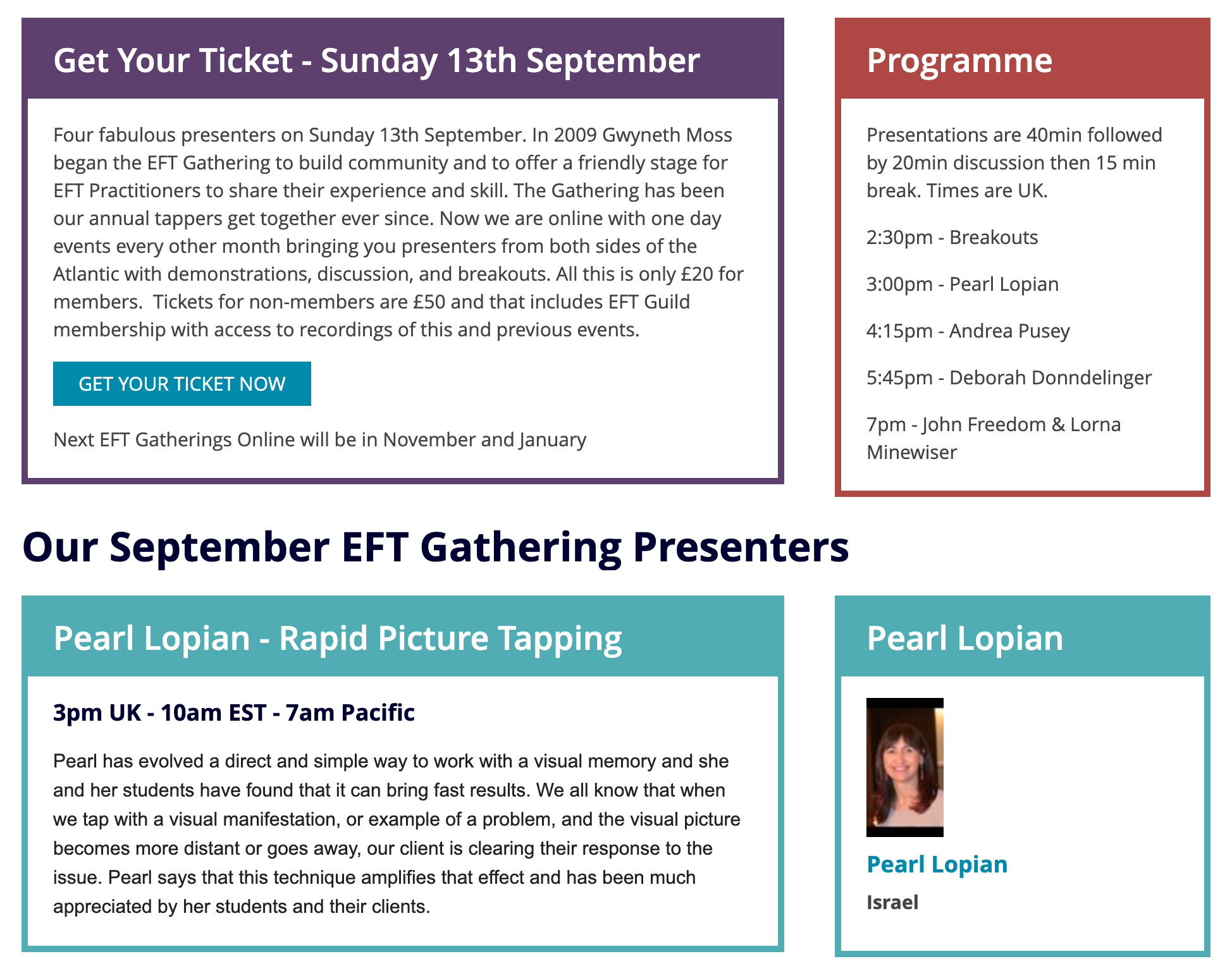 eft guild september gathering agenda