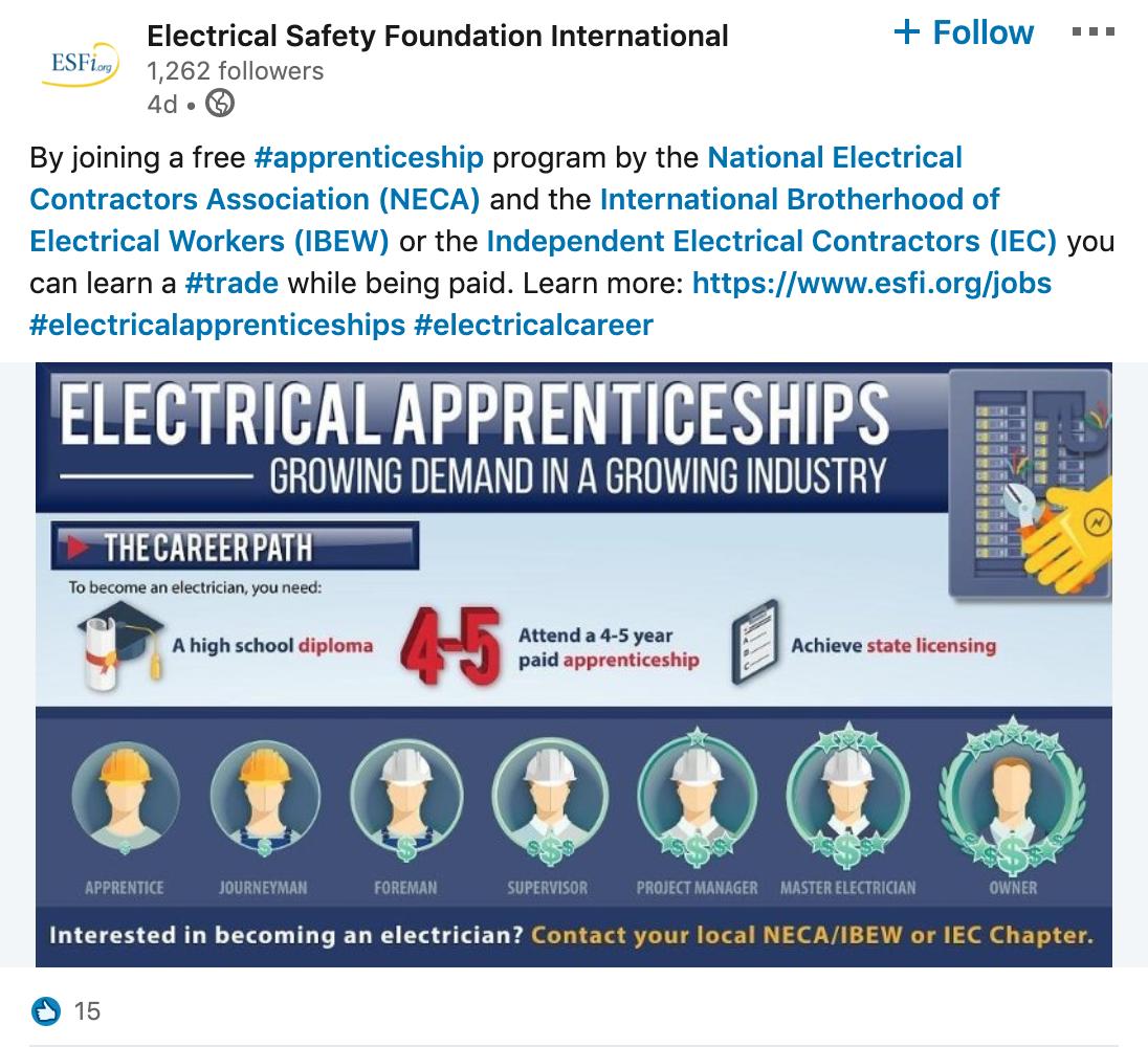 Electrical Safety Foundation International linkedin