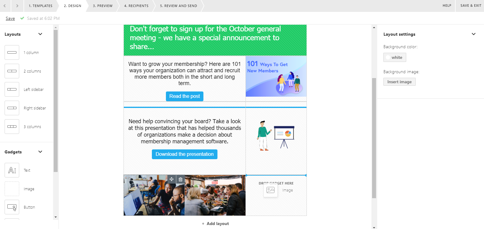 Email editor update 1