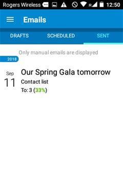 Email list - admin app