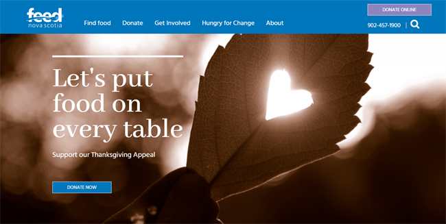 Feed Nova Scotia best nonprofit website